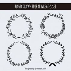 banners, doodle, and idea image Tatto Ink, Wreath Drawing, Star Wars Poster, Bullet Journal Inspiration, Designs To Draw, How To Draw Hands, Doodles, Illustrations, Drawings