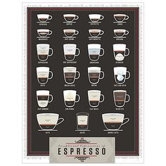 Look what I found at UncommonGoods: espresso pop chart... for $29 #uncommongoods
