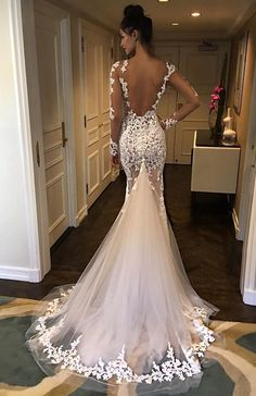 Open Back Lace Mermaid Wedding Dresses - Wedding - # Bridal Dresses . - Open Back Lace Mermaid Wedding Dresses – Wedding – # - Lace Mermaid Wedding Dress, Mermaid Dresses, Dream Wedding Dresses, Bridal Dresses, Wedding Gowns, Lace Dress, Prom Dresses, Tulle Dress, Wedding Lace