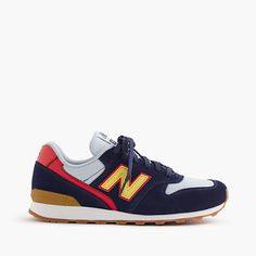 When New Balance decided to resurrect one of its most classic sneaker styles, the 696, from its archives, we couldn't have been more excited. So we partnered with the brand to create never-before-seen color combinations you can only find here. <ul><li>Suede, mesh upper.</li><li>Rubber sole.</li><li>Import.</li></ul>