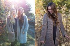 Marthejakken Knitted Coat, Crochet Fashion, Knitting Patterns, Knitting Ideas, Knit Crochet, My Style, Sweaters, Knits, Inspiration