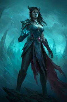 Fantasy Warrior, Fantasy Rpg, Dark Fantasy Art, Fantasy Artwork, Fantasy Character Design, Character Concept, Character Art, Dnd Characters, Fantasy Characters