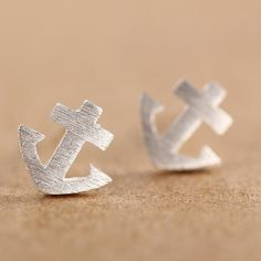 Handmade Sterling Silver Anchor Earring, 925 Silver Ear Studs, Teenage, Valentine, Bridemaid, Bridal, Wedding #bestofEtsy #gifts