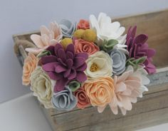 Rustic Felt Flower Bouquet