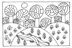 Erdő Free Coloring Pages, Coloring For Kids, Coloring Books, Red Brolly, Primitive Painting, Spring Crafts, Doodle Art, Embroidery Stitches, Folk Art