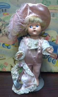 Vintage Vogue Ginny doll  Pink Prince Charming (1949) Awesome!! #Dolls