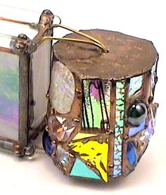 """Stained Glass Kaleidoscope,""""Barrel"""" # 19 of 500 """" 1994 By Artists Bob and Sue Rioux."""