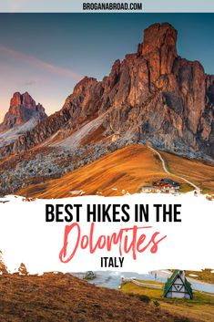 Best Hikes in the Dolomites, Italy | Best hiking trails in the Dolomites, Italy | Hiking Tips for the Dolomites, Italy | Best hiking routes in the Dolomites, Italy | Best short hikes in the Dolomites, Italy | Best day hikes in the Dolomites, Italy | Best multi-day hikes in the Dolomites, Italy #dolomites #italy #hiking #travel