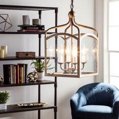 Ashley Bronze 4-light Foyer Hanging Lantern 10.5 long x 10.5  x 19 inches high 123