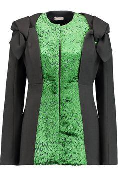 DELPOZO Devoré velvet-paneled crepe jacket. #delpozo #cloth #jacket