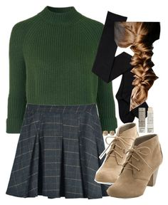 """""""Untitled #10488"""" by veterization ❤ liked on Polyvore featuring Topshop, Lucky Brand and Korres"""