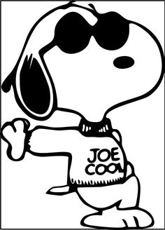 snoopy is the cool coloring pages for kids printable snoopy coloring pages for kids