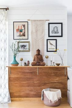 wall accessory ideas | follow @shophesby for more gypset boho modern lifestyle + interior inspiration