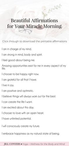 Daily Affirmations Art Print - mantras encouragement illustration reminder gratitude gratefulness self love body positive bathroom wall