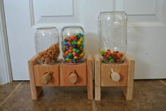 Handmade Wood Candy Dispenser's! Makes a great Gift. on Etsy, $14.95