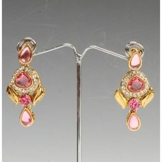 Pink Gold Color Stylish Earrings By Swarajshop