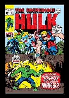Incredible Hulk Avengers Appearance 1970 Fine/Fine+ Marvel OWP to Tanning Hulk Marvel, Hulk Comic, Hulk Avengers, Marvel Comic Books, Comic Book Heroes, Marvel Characters, Marvel Heroes, Comic Books Art, Comic Art
