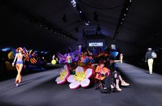 Pin for Later: Umbrella Hats, Cindy Crawford's Son, and More Things You Need to See From Moschino's Resort '17 Show Even Matched the Decor