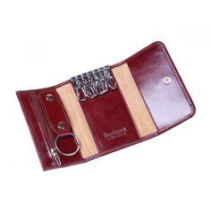 Dark Tan Key Ring Wallet