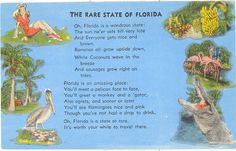 Vintage Florida Postcard  The Rare State of by savannahsmiles4u, $2.25
