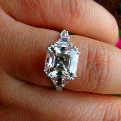 Gorgeous asscher ring!