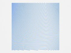Corner On Dribbble.  Geometric formations inspired by the incredible work of Bridget Riley. Created with parametric design tools.