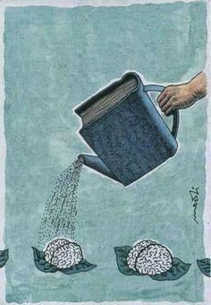 """Leggere fa bene al cervello. (Italian """"Reading is good for the brain. Nuture the brain with good books. Reading benefits the brain. Left brain is smaller then the right. I Love Books, Books To Read, Book Nooks, Love Reading, Reading Books, Reading Art, Reading People, Reading Skills, Oeuvre D'art"""