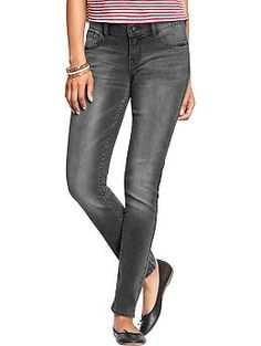 Womens The Diva Gray-Wash Skinny Jeans