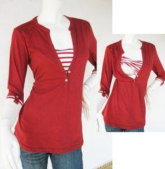 MACY Maternity Shirt/ Nursing Top Breastfeeding / Nursing Clothes NEW Original Design RED Pregnancy Clothes