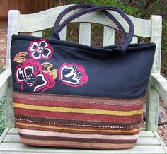 Embroidered Afghan Tote - Fair Trade Designs
