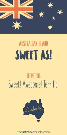 Aussie Slang Funny - Australian Slang - sweet as Australia Slang, Australia Funny, Australia Day, Iconic Australia, Australian Quotes, Australian Dictionary, Australian Accent, Australian English, Australian Expressions