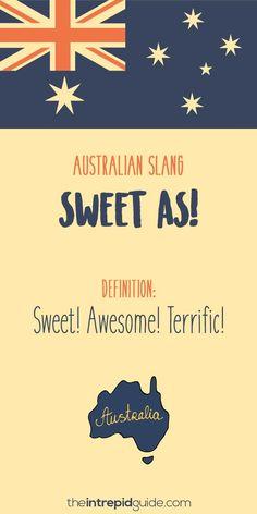 Aussie Slang Funny - Australian Slang - sweet as Australia Slang, Australia Funny, Australia Day, Iconic Australia, Australian Quotes, Australian Dictionary, Australian English, Australian Expressions, Reptiles