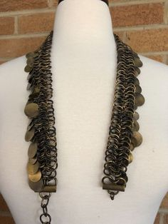 Goth Medieval Renaissance Chainmail Belt GOT with coins