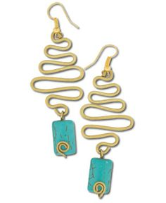 SoulFlower-NEW! Zig to Zag Recycled Earrings-$14.00
