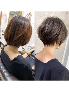 Short Hair Back, Asian Short Hair, Short Hairstyles For Thick Hair, Short Hair With Layers, Short Hair Cuts For Women, Cool Hairstyles, Layered Hair, Medium Hair Styles, Curly Hair Styles
