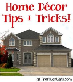 Home Decor Tips and Tricks! ~ from TheFrugalGirls.com ~ you'll love all these fun organizing, decorating and design ideas to get your house in tip-top shape! #homes #thefrugalgirls