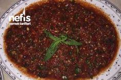 Mis Acılı Lokanta Usulü Ezme Tarifi Turkish Recipes, Iftar, Meatloaf, Good Food, Food And Drink, Health Fitness, Appetizers, Salad, Baking