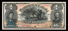Dominion of Canada Dollar, 1898 - Image courtesy of the Bank of Canada | #banknote #money