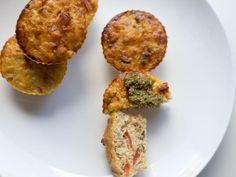 Muffins au pesto - Recette de cuisine Marmiton : une recette
