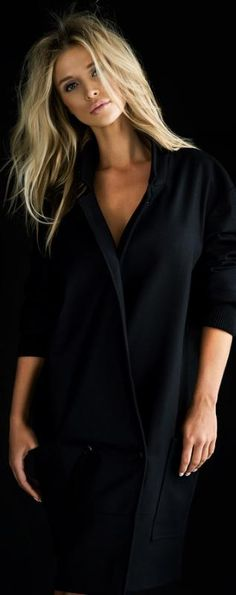 Joanna krupa-love the all black look. classy.clean. fresh