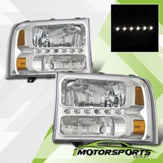 1999-2004 Ford Excursion F250/F350/F450/F550 Superduty Bright LED Headlights Set | eBay Motors, Parts & Accessories, Car & Truck Parts | eBay!