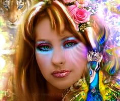 Princess of Miracles by Hanan-Abdel on DeviantArt Fantasy Art Women, Pretty Eyes, Colour Images, Face Art, Girly Girl, Body Painting, Rainbow Colors, Amazing Art, Aurora Sleeping Beauty