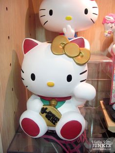 Must-have item in my book! Kitty-chan is *always* adorable as Maneki Neko, or Lucky Cat! I bet I can save some $ if I add this coin bank to my collection. =^_^=