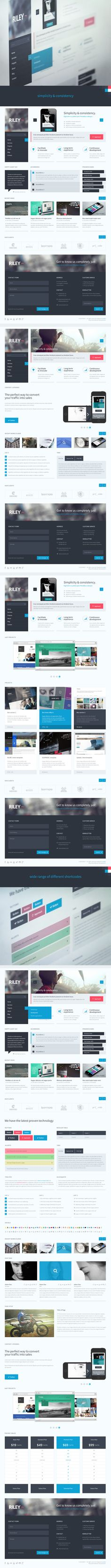 Awesome examples of flat UI design - Riley - Unique PSD template by entiri