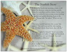 The starfish poem 1110 5x7 print starfish poem and starfish