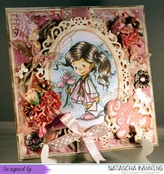 Birthday card with a digi stamp by Wee Stamps. http://nataschas-blog.blogspot.de/2016/06/stampavie-and-more-264.html