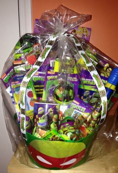 30 easter basket ideas for kids best easter gifts for babies ninja turtles easter basket made by me negle Images