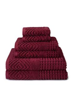 Luxury 6-Piece Bath Towel Set: 100% Certified Organic Cotton Jacquard Weave