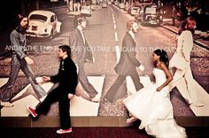 An awesome Beatles-inspired wedding photo | 8twenty8 Studios