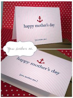 Happy Mother's Day FREE Printable Greeting - You Anchor Me!